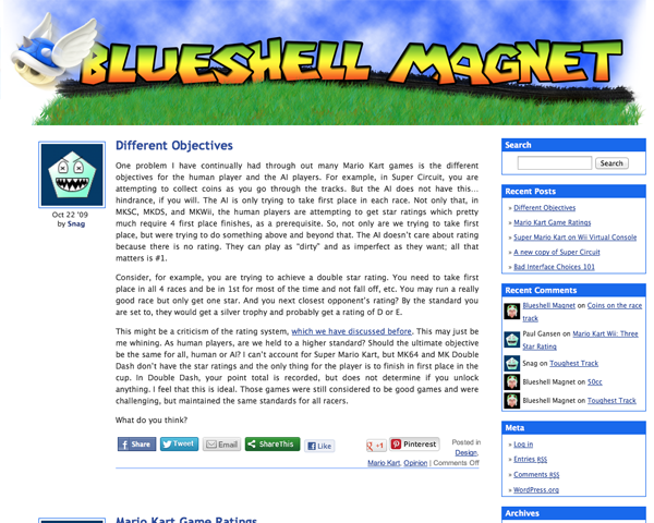 Blue Shell Magnet