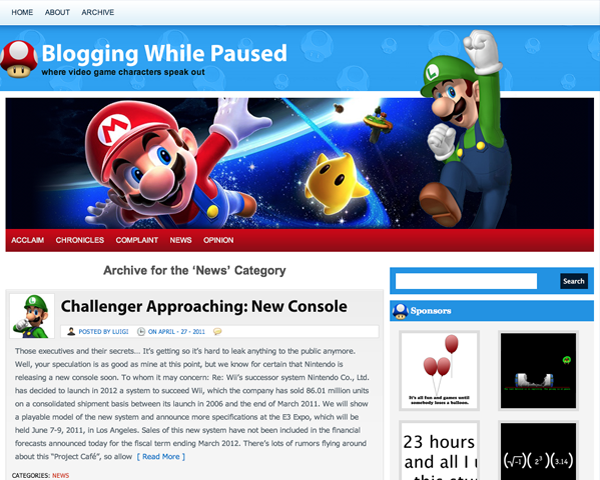 Blogging While Paused